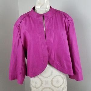 Ashley Stewart Fuchsia Crop Jacket  Sz: 18/20